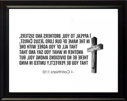1 Corinthians 1:10 I Appeal Poster Print Picture or Framed W