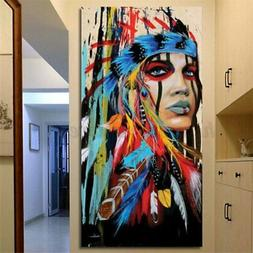 100x50cm Abstract Indian Woman Canvas Painting Print Picture