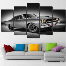 1970 Plymouth Road Runner Car 5 Pieces Canvas Wall Art Poste