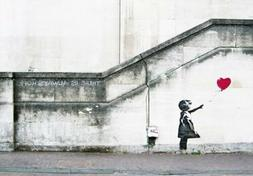 Canvas Print Wall Art Picture Painting Home Decor Banksy Red