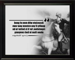 George Washington Associate Yourself Poster Print Picture or