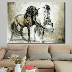Horse Abstract Canvas Painting Wall Art Picture Home Hanging