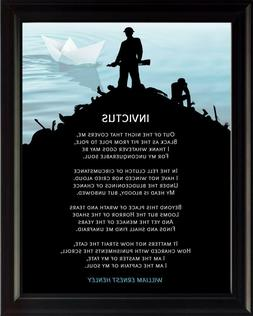 Invictus Poem by William   Motivational Poster Print Picture