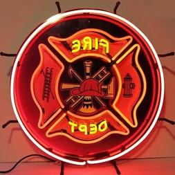 Large Fire Department Neon Sign 5FIRED - Usa Firefighters Wa
