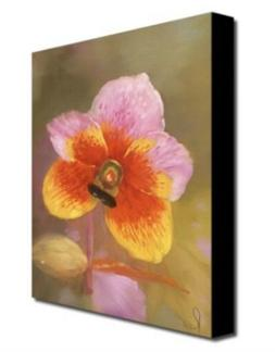 """Orange-Pink Orchard by Master's Art, 35x47"""" Canvas Wall"""