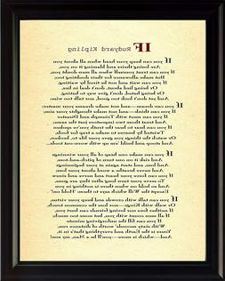 Rudyard Kipling If You Can Print Picture or Framed Wall Art